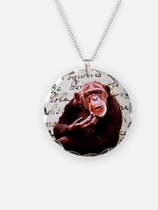 funny chimpanzee Necklace