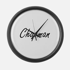Chapman surname artistic design Large Wall Clock