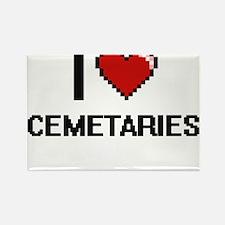 I love Cemetaries Digitial Design Magnets