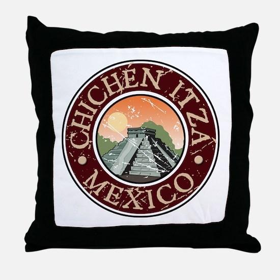 Chichen Itza, Mexico Throw Pillow