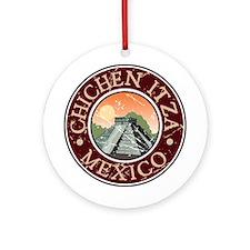 Chichen Itza, Mexico Ornament (Round)