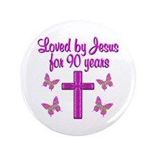 "90TH CHRISTIAN 3.5"" Button (100 pack)"