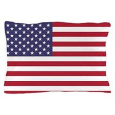 USA flag authentic version Pillow Case