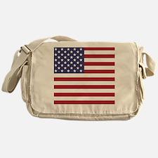 USA flag authentic version Messenger Bag