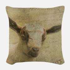 Baby Goat Socke Woven Throw Pillow