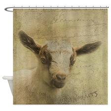 Baby Goat Socke Shower Curtain