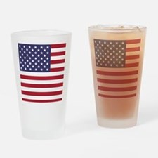 USA flag authentic version Drinking Glass