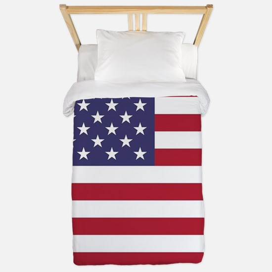 USA flag authentic version Twin Duvet