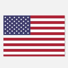 USA flag authentic versio Postcards (Package of 8)