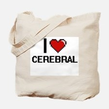 I love Cerebral Digitial Design Tote Bag