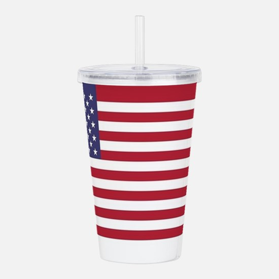USA flag authentic ver Acrylic Double-wall Tumbler