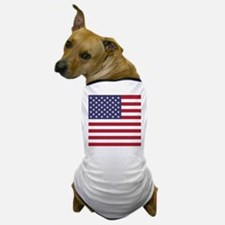 USA flag authentic version Dog T-Shirt
