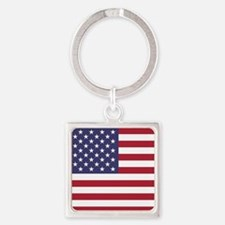 USA flag authentic version Keychains
