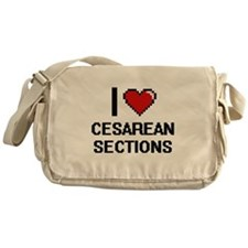 I love Cesarean Sections Digitial De Messenger Bag