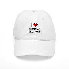 I love Cesarean Sections Digitial Design Baseball Baseball Cap