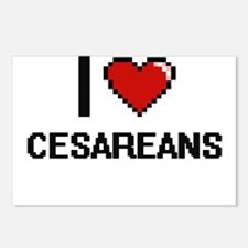 I love Cesareans Digitial Postcards (Package of 8)