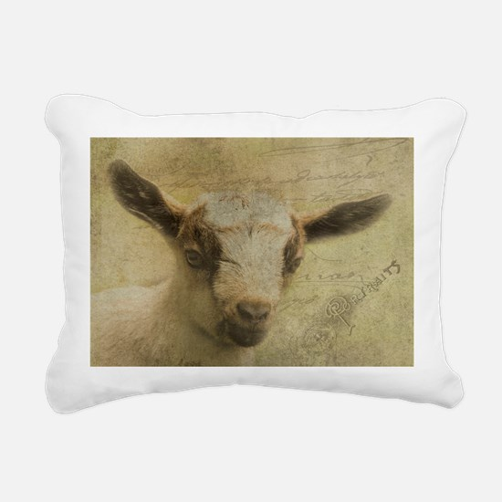 Baby Goat Socke Rectangular Canvas Pillow