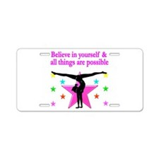 INSPIRED GYMNAST Aluminum License Plate