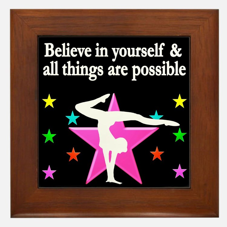 GYMNAST DREAMS Framed Tile