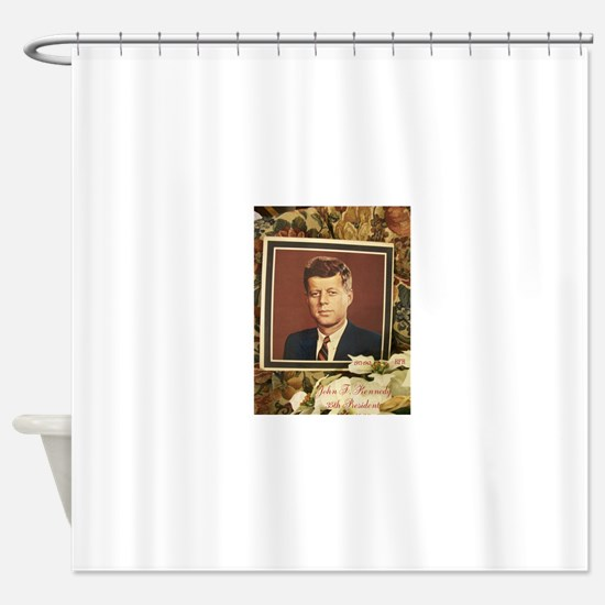 JOHN F. KENNEDY. HFH Shower Curtain