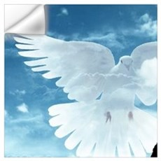 sky peace dove soldier Wall Decal