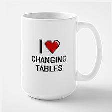 I Love Changing Tables Digitial Design Mugs
