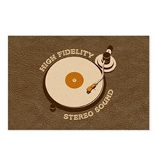 Retro DJ's Turntable Postcards (Package of 8)