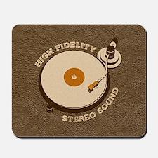 Retro DJ's Turntable Mousepad