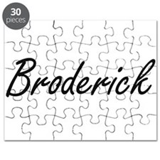 Broderick surname artistic design Puzzle