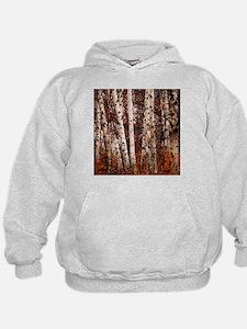 fall landscape birch tree Hoodie