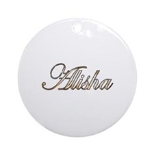Gold Alisha Round Ornament
