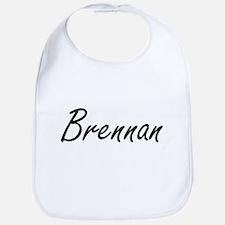 Brennan surname artistic design Bib