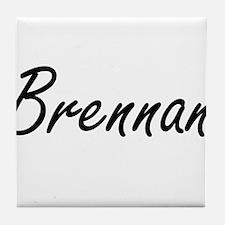 Brennan surname artistic design Tile Coaster