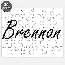 Brennan surname artistic design Puzzle