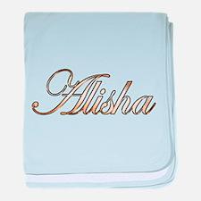 Gold Alisha baby blanket
