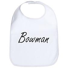 Bowman surname artistic design Bib