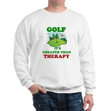 GOLF IT'S CHEAPER THAN THERAPY Sweater