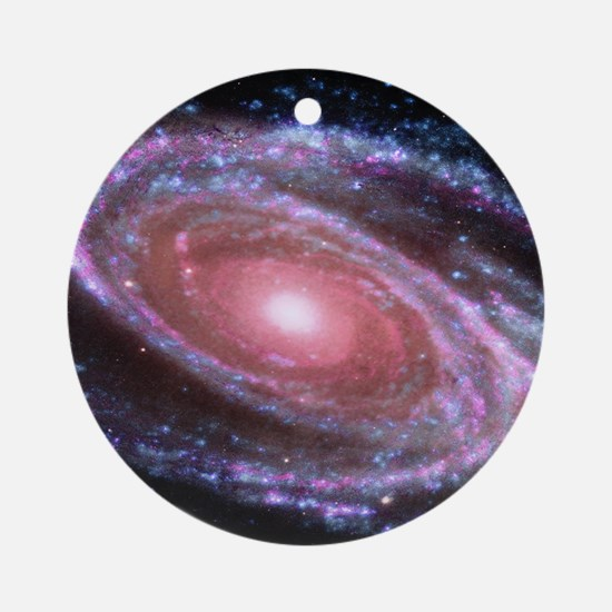 Pink Spiral Galaxy Ornament (Round)
