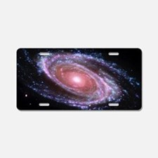 Pink Spiral Galaxy Aluminum License Plate