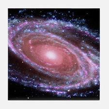 Pink Spiral Galaxy Tile Coaster