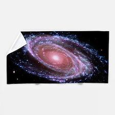 Pink Spiral Galaxy Beach Towel