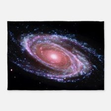 Pink Spiral Galaxy 5'x7'Area Rug
