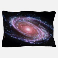 Pink Spiral Galaxy Pillow Case