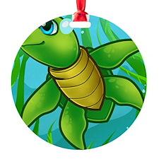 a cartoon seaturtle Ornament