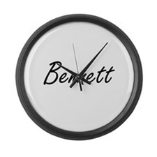 Bennett surname artistic design Large Wall Clock