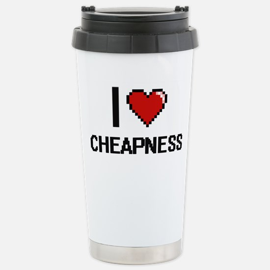 I love Cheapness Digiti Stainless Steel Travel Mug