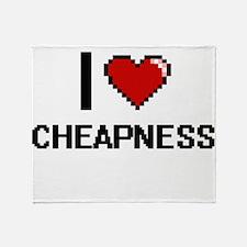 I love Cheapness Digitial Design Throw Blanket