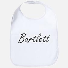 Bartlett surname artistic design Bib