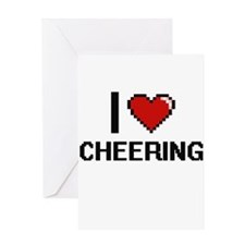 I love Cheering Digitial Design Greeting Cards