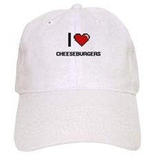I love Cheeseburgers Digitial Design Baseball Cap